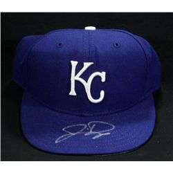 Jermaine Dye Signed Royals Hat (Fleer COA)