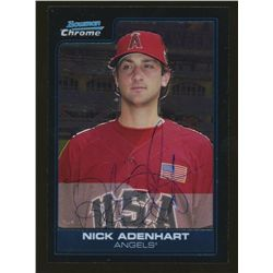 Nick Adenhart Signed 2006 Bowman Chrome Draft Future's Game Prospects #1 (JSA COA)