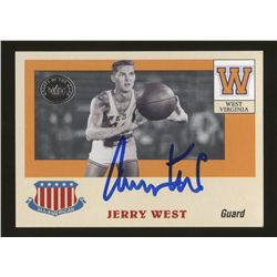 Jerry West Signed 2001 Greats of the Game All-American Collection #AAC14 (GA)