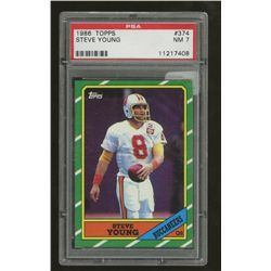 1986 Topps #374 Steve Young RC (PSA 7)