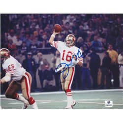 Joe Montana Signed 49ers 8x10 Photo (GA COA)