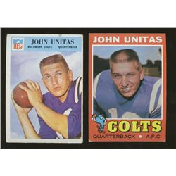 Lot of (2) Vintage Johnny Unitas Colts Football Cards