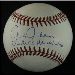 "Chris Chambliss Signed OML Baseball: Inscribed ""GW ALCS HR 10/14/76"" (Steiner COA)"