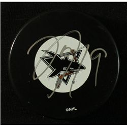 Joe Thornton Signed Sharks Puck (JSA COA)