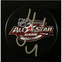 Henrik Sedin Signed 2011 NHL All Star Logo Puck (JSA COA)