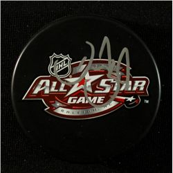 Daniel Sedin Signed 2011 NHL All Star Logo Puck (JSA COA)