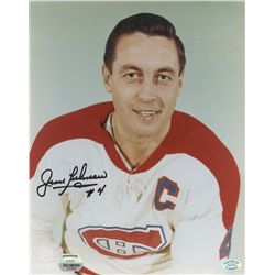 Jean Beliveau Signed Canadiens 8x10 Photo (Mounted Memories COA & SOP COA)