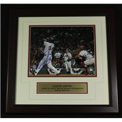 David Ortiz Signed Red Sox 16x16 Custom Framed Piece (Steiner COA)
