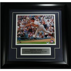 "David Cone Signed Yankees 16x16 Custom Framed Piece: ""Perfect Game"" (SOP COA)"