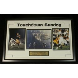 Gale Sayers & Paul Hornung Signed 20x32 Custom Framed Piece: Multiple Inscriptions (JSA COA)
