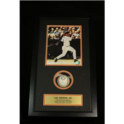 Cal Ripken Jr. Signed Baseball: Custom 14x24 Shadow Box With 8x10 Photo (SOP COA)