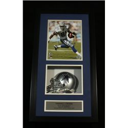 Terrell Owens Signed 8x10 Photo: 14x26 Shadow Box With Cowboys Mini Helmet (Owens Hologram)