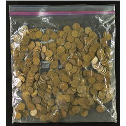 Lot of (563) Wheat Pennies