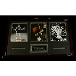 Pistol Pete Maravich Signed Custom Framed 21x33 Display (JSA LOA)