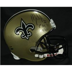 Mark Ingram Signed Saints Full-Size Helmet: Multiple Inscriptions (UDA COA & Ingram Hologram)