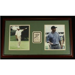 Tiger Woods Signed 16x28 Custom Framed Piece (JSA LOA)