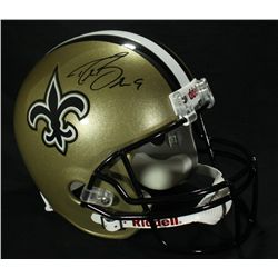 Drew Brees Signed Saints Full-Size Helmet (PSA COA)