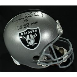 "Jim Plunkett Signed Raiders Full-Size Helmet: Inscribed ""SB XV MVP"" (JSA COA)"
