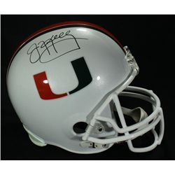Jim Kelly Signed University of Miami Full-Size Helmet (JSA COA)