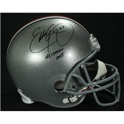 "Eddie George Signed Ohio State Full-Size Helmet: Inscribed ""Heisman 1995"" (JSA COA)"