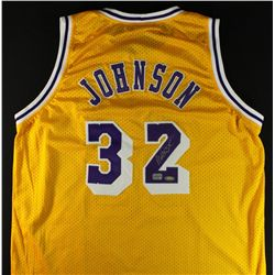 Magic Johnson Signed Lakers Jersey (ASL Hologram & AAA COA)