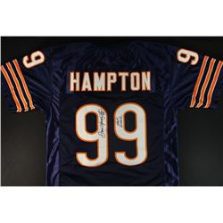 "Dan Hampton Signed Bears Jersey: Inscribed ""HOF 2002"" (JSA COA)"