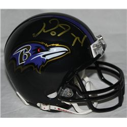 Michael Oher Signed Ravens Mini-Helmet (JSA COA)