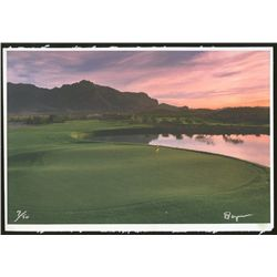 LE Golf Course Lithograph Signed by Artist: #7/50 (PA LOA)