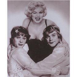 "Tony Curtis Signed Black & White 8x10 Photo: ""Some Like it Hot"" with Marilyn Monroe (PA LOA)"