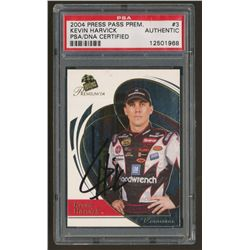 Kevin Harvick Signed 2004 Press Pass NASCAR Card (PSA Encapsulated)