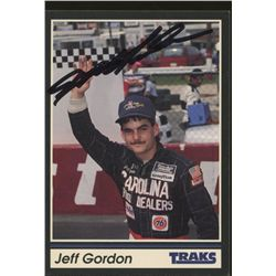 Jeff Gordon Signed 1991 Traks #1 NASCAR Rookie Card (PSA COA)