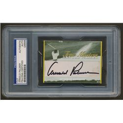 "Arnold Palmer Signed 1/1 ""True Masters"" Golf Card (PSA Encapsulated)"