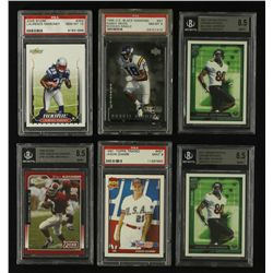 Lot of (21) Football, Baseball & Basketball Cards With (6) Graded & (3) Autographed Inserts
