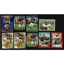 Lot of (9) Drew Brees RC's Including (2x) Bowman, UD MVP, Fleer Tradition, Stadium Club, Score