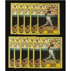 Lot of (11) 1987 Topps #320 Barry Bonds RC