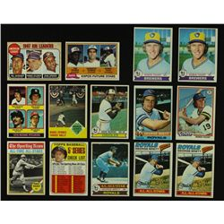 Lot of (24) Vintage 1960's & 1970's Baseball Cards Including Maris, Wagner, Puckett, Brett, Yount