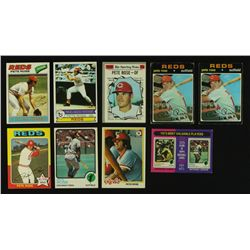 Lot of (9) Vintage Pete Rose Baseball Cards Including (2x) 1971 Topps #100