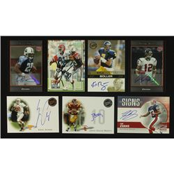 Lot of (7) Autographed Football Cards Including Andre Reed