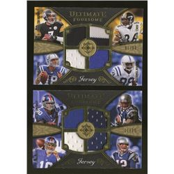 Lot of (2) 2008 Ultimate Collection Ultimate Foursome Football Cards With Manning, Brady