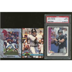 Lot of (3) Brett Favre RCs Including 1991 Stadium Club #94 Brett Favre