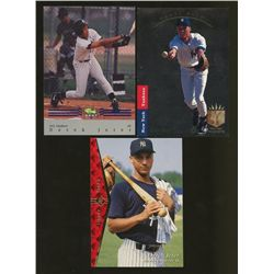 Lot of (3) Derek Jeter Cards Including 1993 SP #279 Derek Jeter FOIL RC