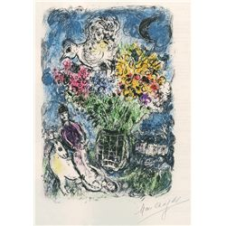 Night Bouquet- Chagall - Limited Edition on Canvas