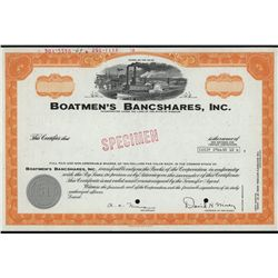 Boatmen's Bancshares, Inc., Specimen Stock.