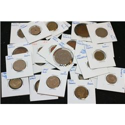 World Coins & Tokens Grab Bag; Various Dates, Conditions & Denominations; Lot of 25