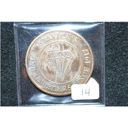 Slavik's Fine Jewelers Since 1917 $25 Trade Token; Redeemable Against any purchase of over $100; Mem