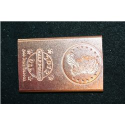 "2012 ""Liberty Bust"" Copper Ingot; .999 Fine Copper Half Pound"
