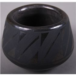 Black on Black Pottery signed JM SOP  (Wider at Bottom) …