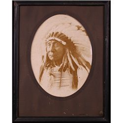 David F. Barry American (1854 - 1934) photograph of Indian Chief.…