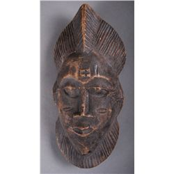 African Hand Carved Wooden Mask, Old …