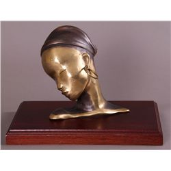 Tonny, (20th Century) Bronze Head of Woman.  1 of a kind…